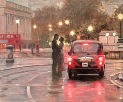Taxi Waiting by Mark Spain -  sized 24x20 inches. Available from Whitewall Galleries
